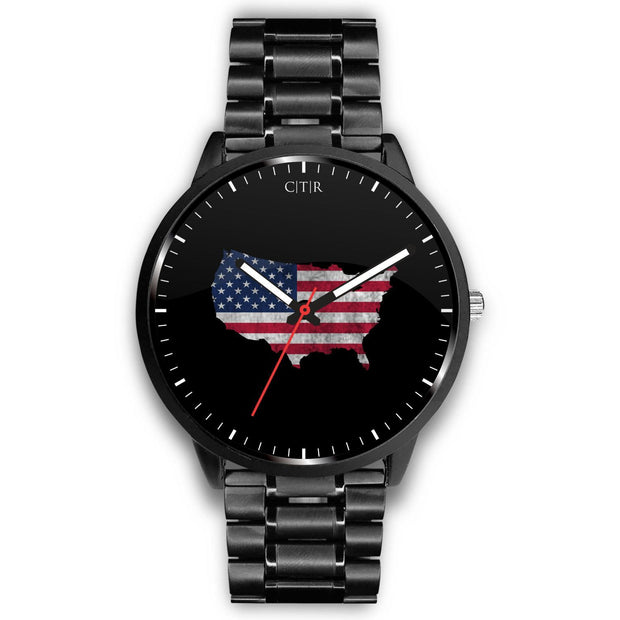 wc-fulfillment Watch Mens 40mm / Metal Link United States - Flag Watch