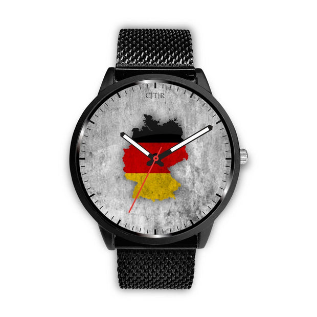 Germany Flag Watch Watch wc-fulfillment Mens 40mm Metal Mesh Country Flag Socks, State Socks, Flag Socks, Patriotic Socks, Patriotic Products, Country Watches