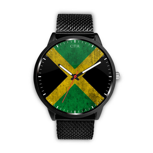 Jamaica - Flag Watch Watch wc-fulfillment Mens 40mm Metal Mesh Country Flag Socks, State Socks, Flag Socks, Patriotic Socks, Patriotic Products, Country Watches