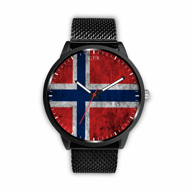 wc-fulfillment Watch Mens 40mm / Metal Mesh Norway - Flag Watch
