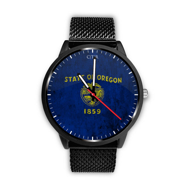 wc-fulfillment Watch Mens 40mm / Metal Mesh Oregon - Flag Watch