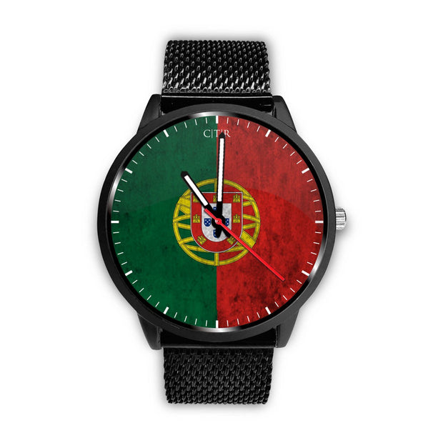 wc-fulfillment Watch Mens 40mm / Metal Mesh Portugal - Flag Watch