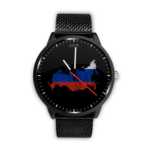 wc-fulfillment Watch Mens 40mm / Metal Mesh Russia - Flag Watch