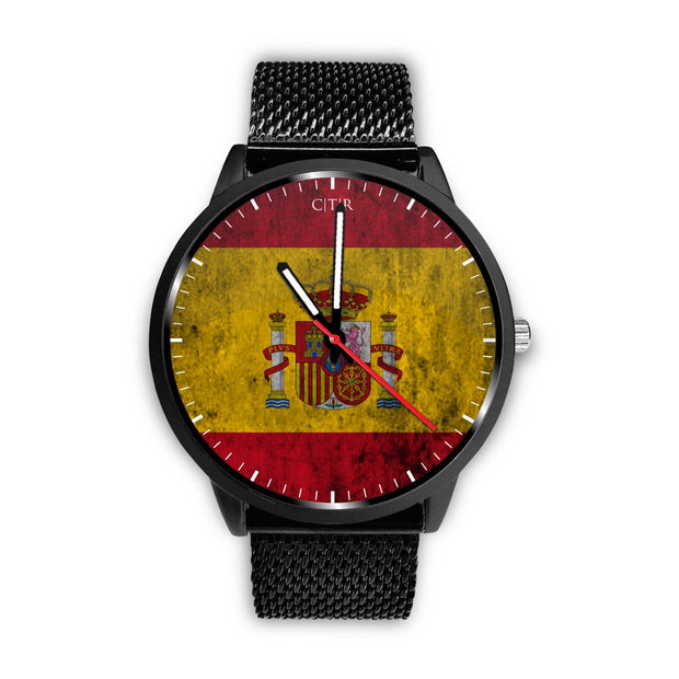 wc-fulfillment Watch Mens 40mm / Metal Mesh Spain - Flag Watch