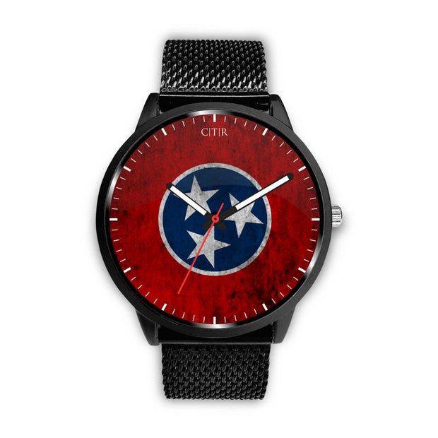 wc-fulfillment Watch Mens 40mm / Metal Mesh Tennessee - Flag Watch