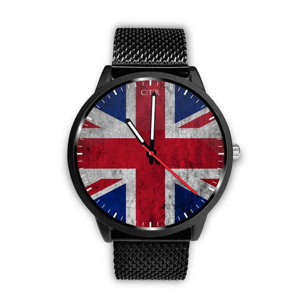 wc-fulfillment Watch Mens 40mm / Metal Mesh United Kingdom - Flag Watch