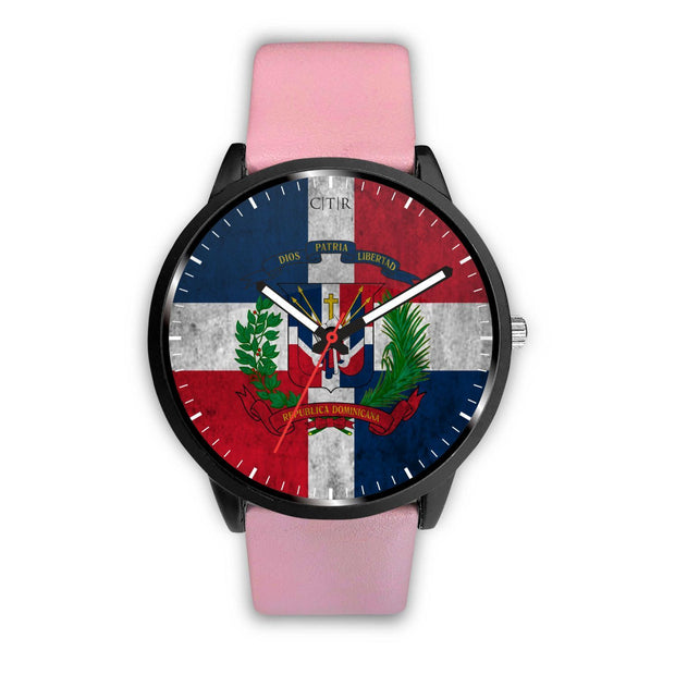 Dominican Republic Flag Watch Watch wc-fulfillment Mens 40mm Pink Country Flag Socks, State Socks, Flag Socks, Patriotic Socks, Patriotic Products, Country Watches