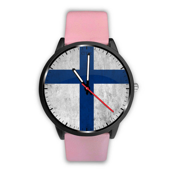 Finland Flag Watch Watch wc-fulfillment Mens 40mm Pink Country Flag Socks, State Socks, Flag Socks, Patriotic Socks, Patriotic Products, Country Watches