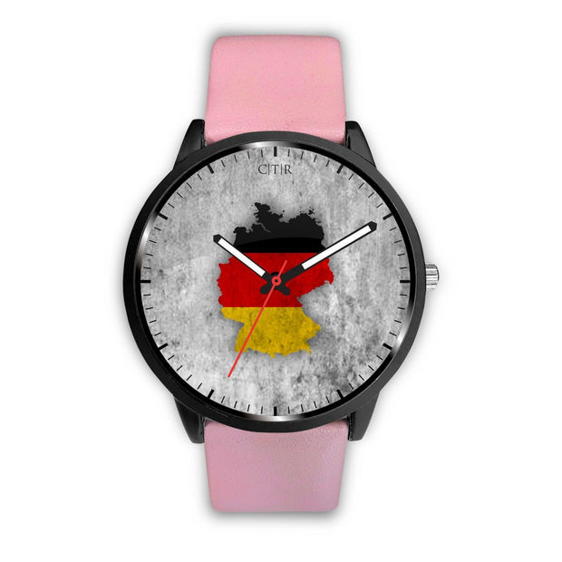 Germany Flag Watch Watch wc-fulfillment Mens 40mm Pink Country Flag Socks, State Socks, Flag Socks, Patriotic Socks, Patriotic Products, Country Watches