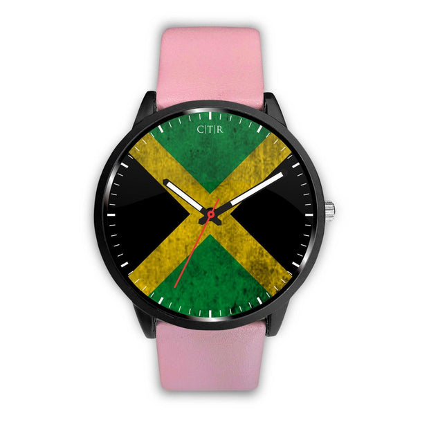 Jamaica - Flag Watch Watch wc-fulfillment Mens 40mm Pink Country Flag Socks, State Socks, Flag Socks, Patriotic Socks, Patriotic Products, Country Watches