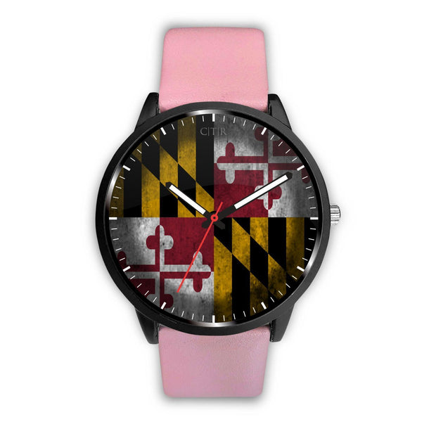 Maryland - Flag Watch Watch wc-fulfillment Mens 40mm Pink Country Flag Socks, State Socks, Flag Socks, Patriotic Socks, Patriotic Products, Country Watches