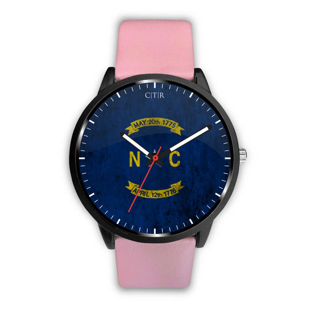 wc-fulfillment Watch Mens 40mm / Pink North Carolina - Flag Watch