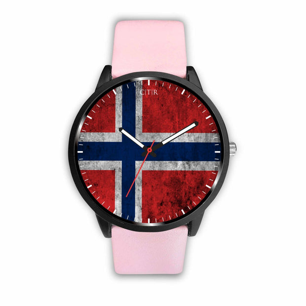 wc-fulfillment Watch Mens 40mm / Pink Norway - Flag Watch