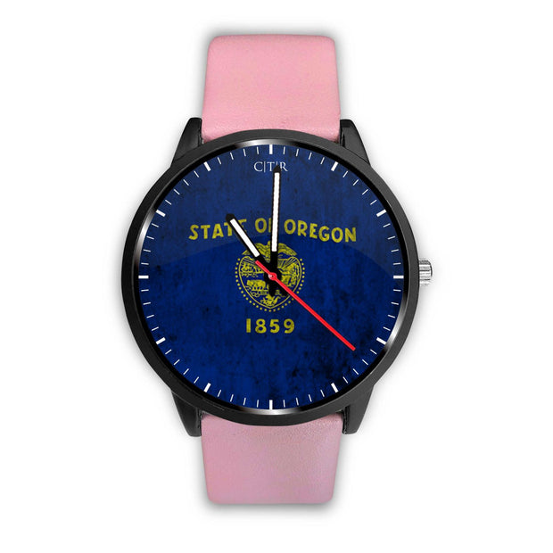 wc-fulfillment Watch Mens 40mm / Pink Oregon - Flag Watch