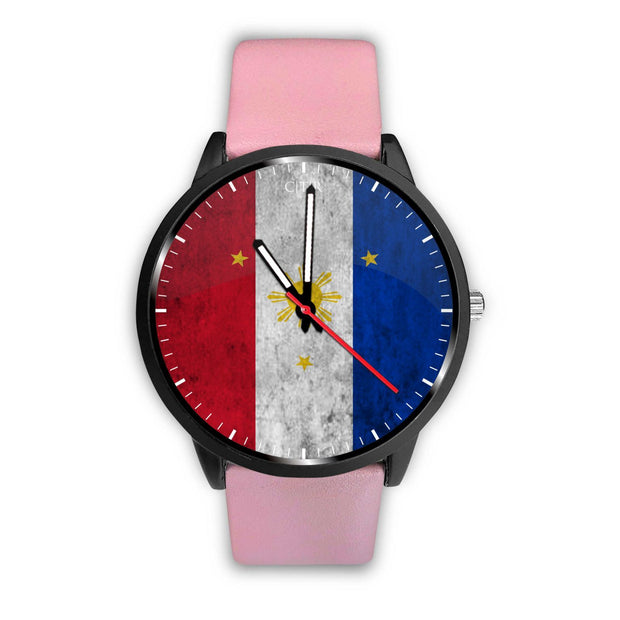 wc-fulfillment Watch Mens 40mm / Pink Philippines - Flag Watch