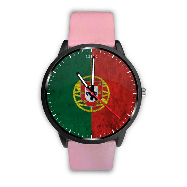 wc-fulfillment Watch Mens 40mm / Pink Portugal - Flag Watch