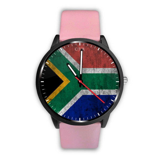 wc-fulfillment Watch Mens 40mm / Pink South Africa - Flag Watch