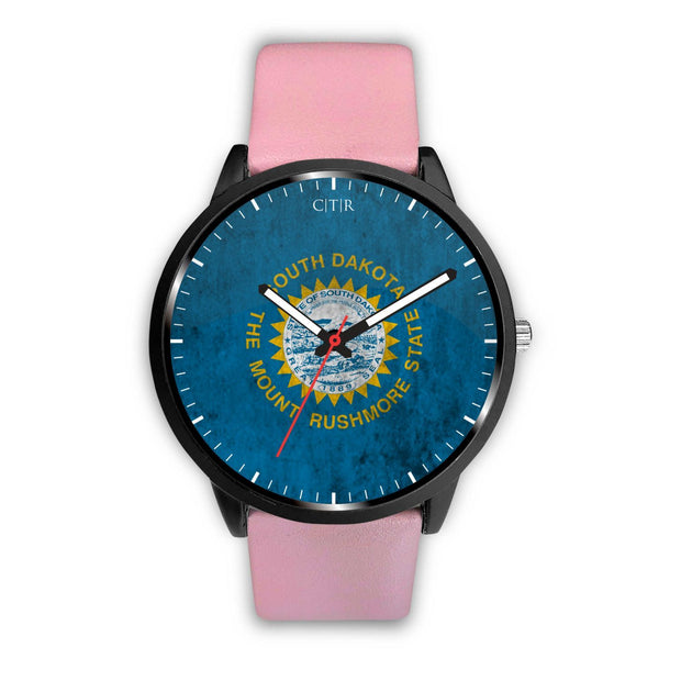 wc-fulfillment Watch Mens 40mm / Pink South Dakota - Flag Watch