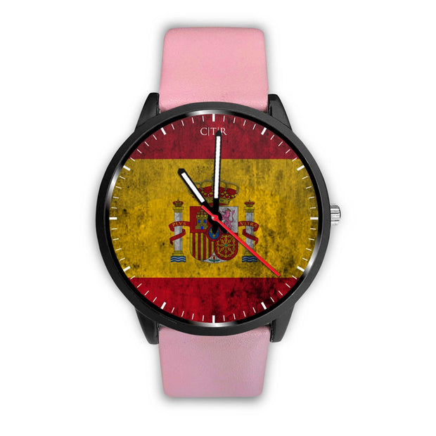 wc-fulfillment Watch Mens 40mm / Pink Spain - Flag Watch