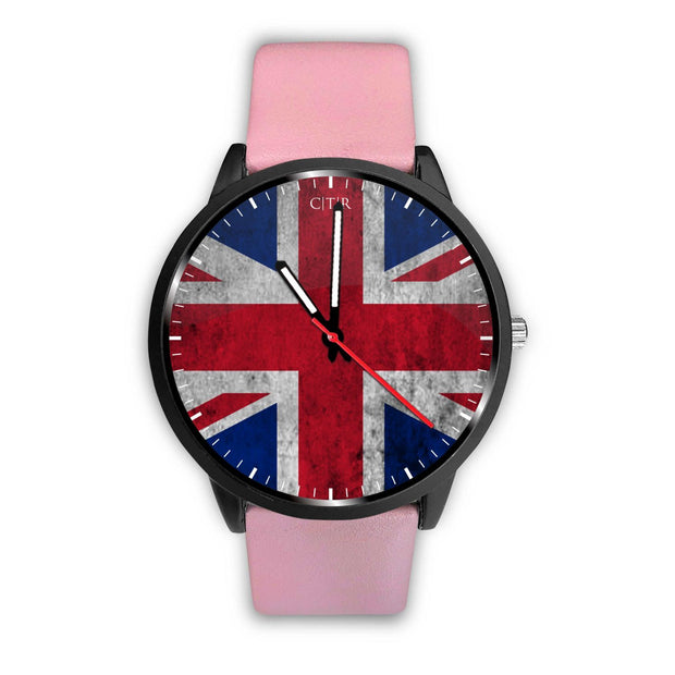 wc-fulfillment Watch Mens 40mm / Pink United Kingdom - Flag Watch