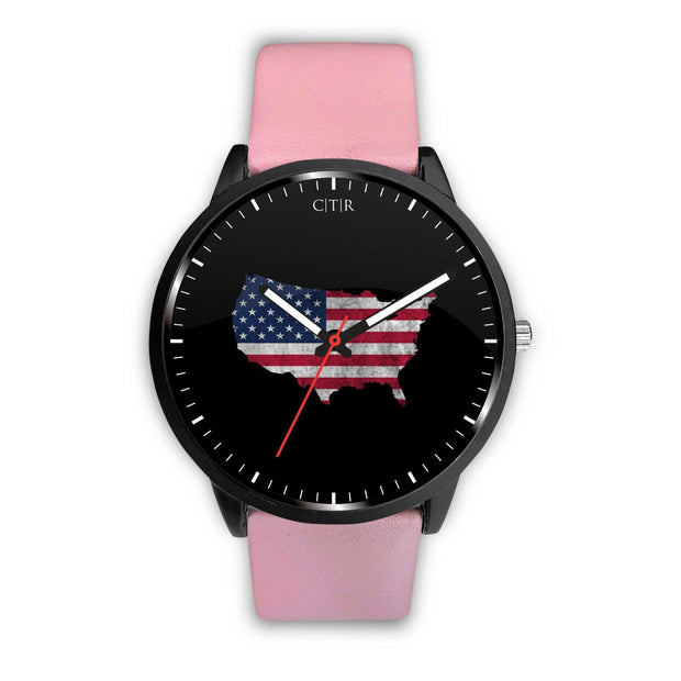 wc-fulfillment Watch Mens 40mm / Pink United States - Flag Watch