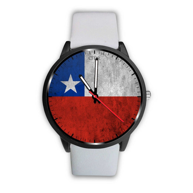 Chile Flag Watch Watch wc-fulfillment Mens 40mm White Country Flag Socks, State Socks, Flag Socks, Patriotic Socks, Patriotic Products, Country Watches