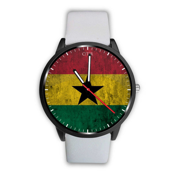 Ghana Flag Watch Watch wc-fulfillment Mens 40mm White Country Flag Socks, State Socks, Flag Socks, Patriotic Socks, Patriotic Products, Country Watches