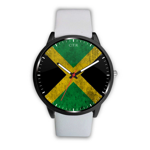 Jamaica - Flag Watch Watch wc-fulfillment Mens 40mm White Country Flag Socks, State Socks, Flag Socks, Patriotic Socks, Patriotic Products, Country Watches
