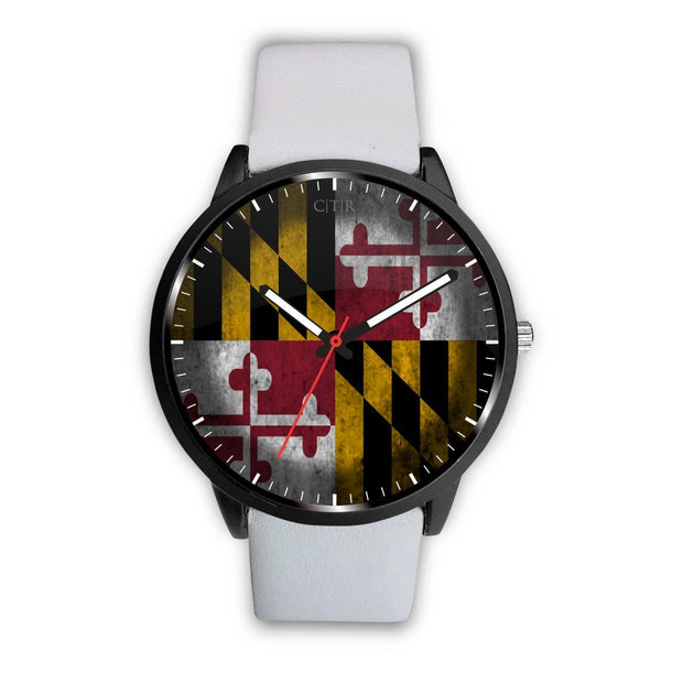 Maryland - Flag Watch Watch wc-fulfillment Mens 40mm White Country Flag Socks, State Socks, Flag Socks, Patriotic Socks, Patriotic Products, Country Watches
