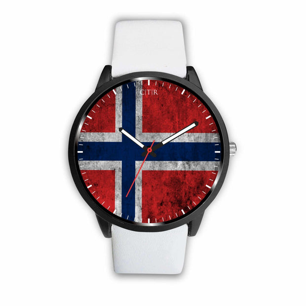 wc-fulfillment Watch Mens 40mm / White Norway - Flag Watch