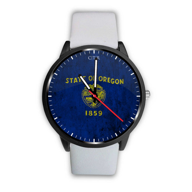 wc-fulfillment Watch Mens 40mm / White Oregon - Flag Watch