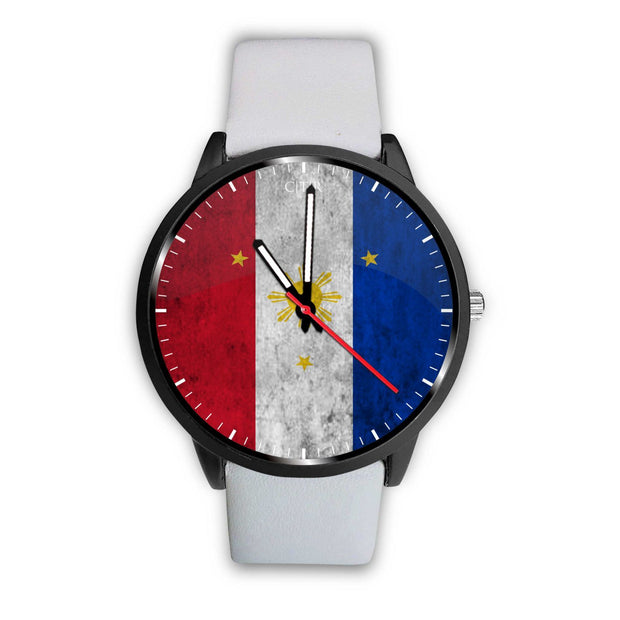wc-fulfillment Watch Mens 40mm / White Philippines - Flag Watch