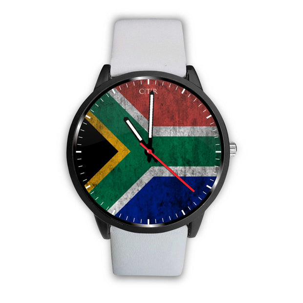 wc-fulfillment Watch Mens 40mm / White South Africa - Flag Watch