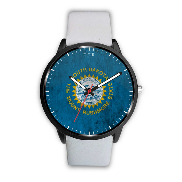 wc-fulfillment Watch Mens 40mm / White South Dakota - Flag Watch