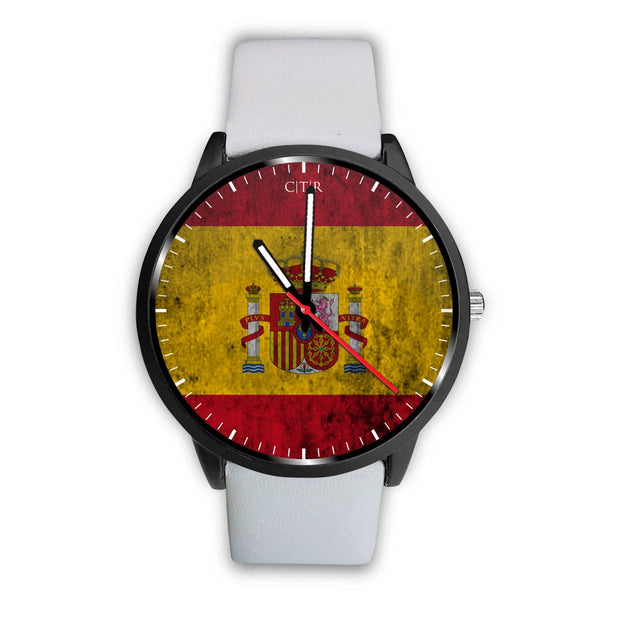 wc-fulfillment Watch Mens 40mm / White Spain - Flag Watch