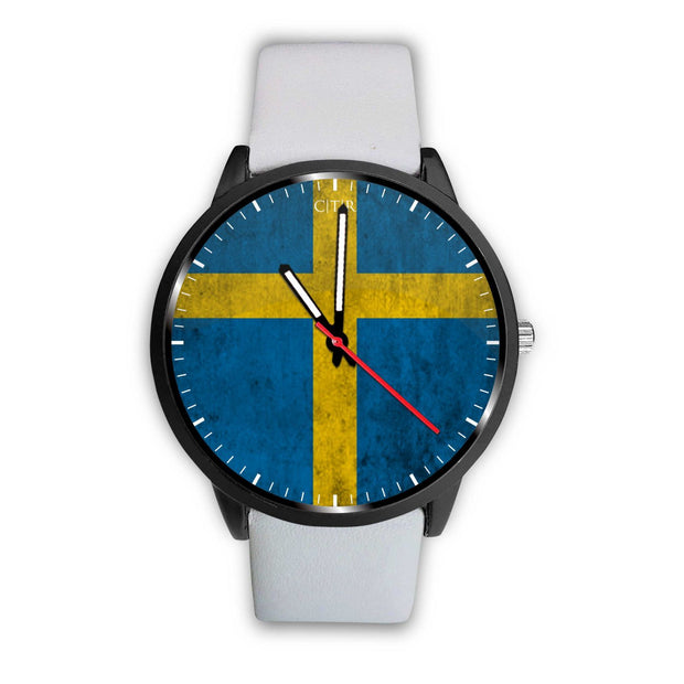 wc-fulfillment Watch Mens 40mm / White Sweden - Flag Watch