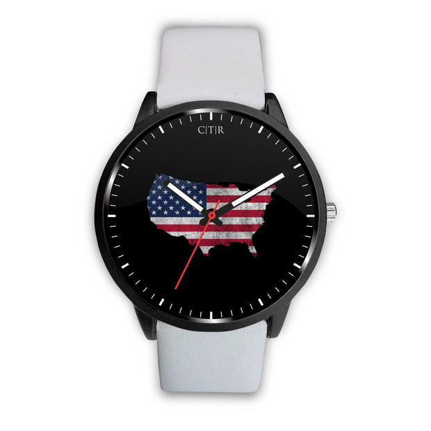 wc-fulfillment Watch Mens 40mm / White United States - Flag Watch