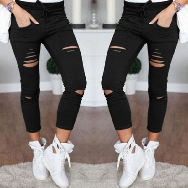 High Elastic Waist Leggings - Sexy Hip Push Up Pants