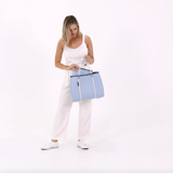 DAYDREAMER Neoprene Tote Bag with Closure - SKY BLUE