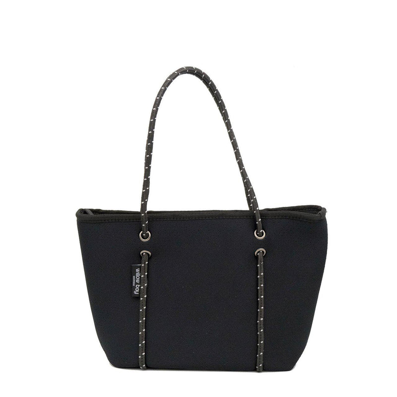 BOUTIQUE MINI Neoprene Zip Tote - Black-Willow Bay