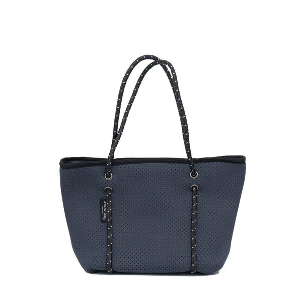 BOUTIQUE MINI Neoprene Zip Tote - Charcoal-Willow Bay