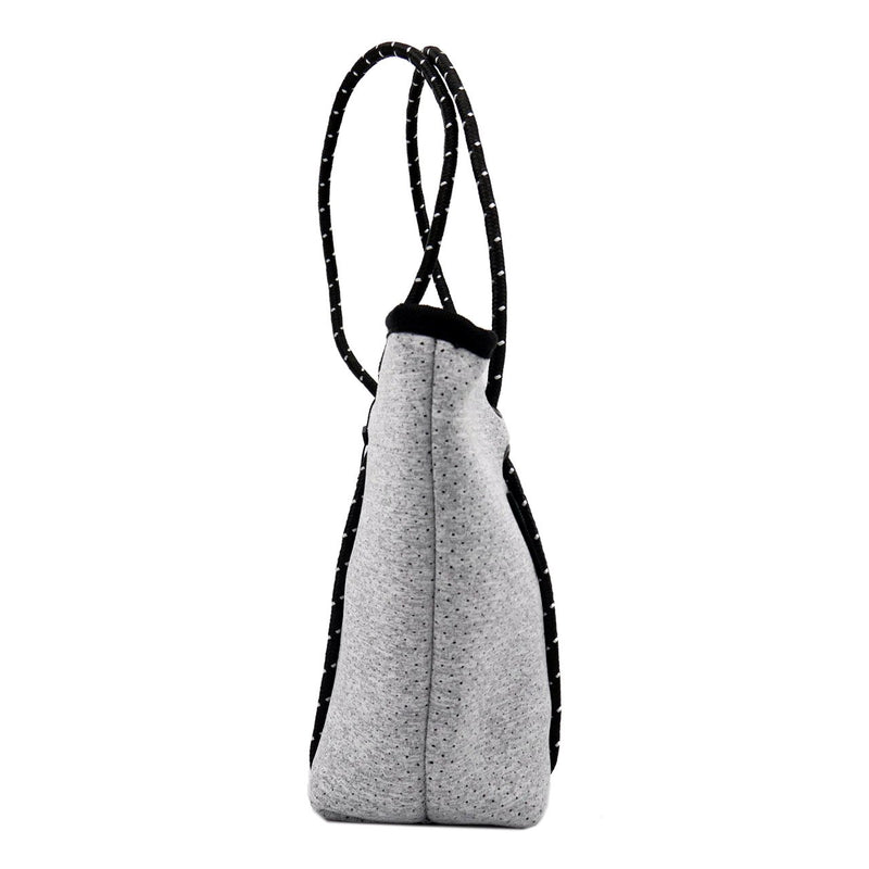 BOUTIQUE MINI Neoprene Tote Bag With Zip - LIGHT MARLE-Willow Bay Australia