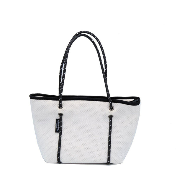 BOUTIQUE MINI Neoprene Zip Tote - White-Willow Bay