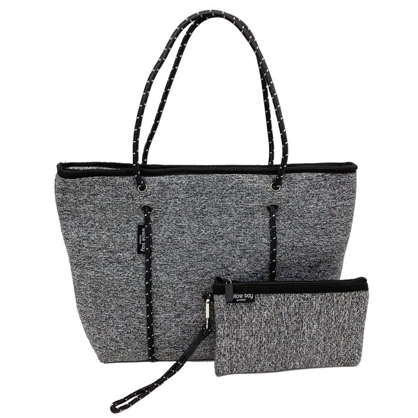 BOUTIQUE Neoprene Tote Bag With Zip - DARK MARLE-Willow Bay Australia