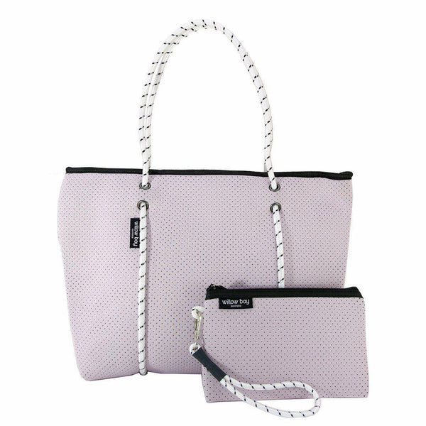 BOUTIQUE Neoprene Zip Tote - SOFT LILAC-Willow Bay