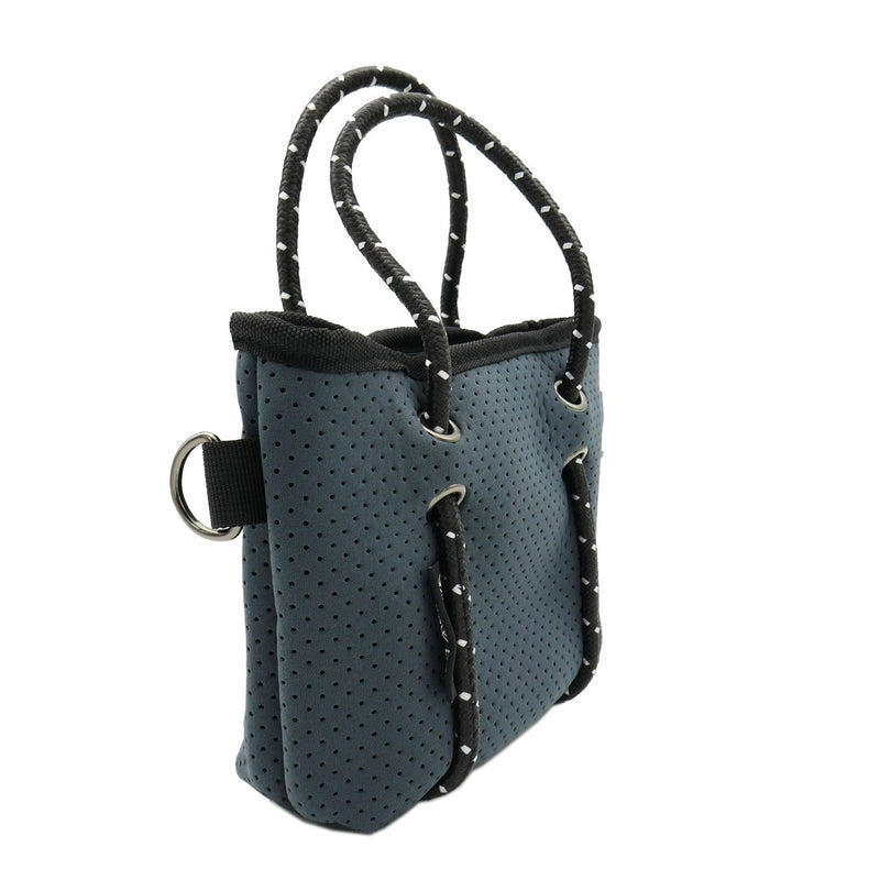 BOUTIQUE TINY Neoprene Tote Bag With Zip - CHARCOAL-Willow Bay Australia