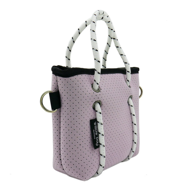 BOUTIQUE TINY Neoprene Tote Bag With Zip - SOFT LILAC-Willow Bay Australia