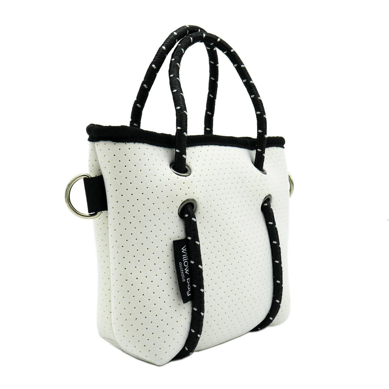 BOUTIQUE TINY Neoprene Tote Bag With Zip - WHITE-Willow Bay Australia