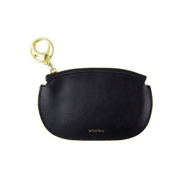 COIN PURSE with Keychain - BLACK-Willow Bay