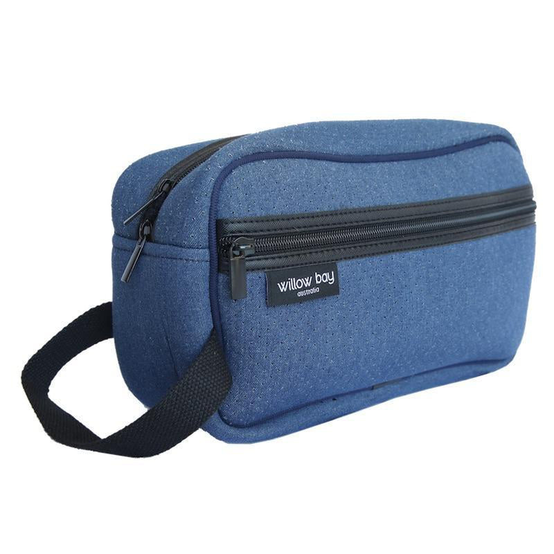 COSMETIC Bag Neoprene - DENIM-Toiletry Bag-Willow Bay Australia